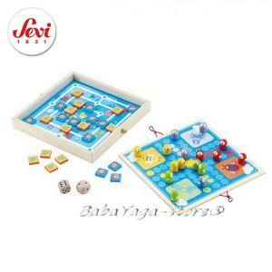 SEVI Дървена Игра с КЛАСИЧЕСКИ модели 4 в 1 - 82474