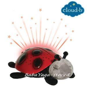 7353 Нощна прожекционна лампа КАЛИНКА за детска стая от CloudB, Twilight Ladybug
