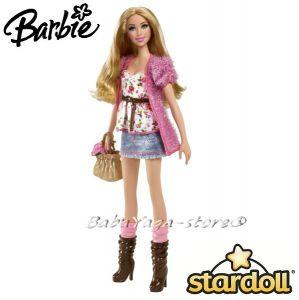 Barbie КУКЛА модна звезда Stardolls - W2198