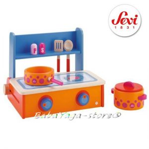 КОТЛОН с прибори дървена игра от Sevi Portable cooker - 82271