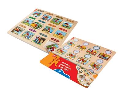 Дървена игра - пъзел ВРЕМЕТО от MG Toys