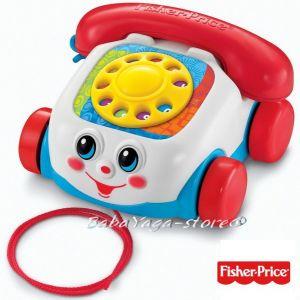 Fisher Price Играчка ТЕЛЕФОН от серията Brilliant Basics™ Chatter Telephone - 77816
