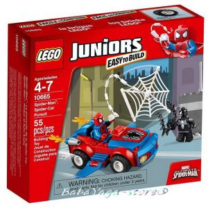 2014 LEGO Конструктор JUNIORS Spider-Man: Spider-Car Pursuit - 10665