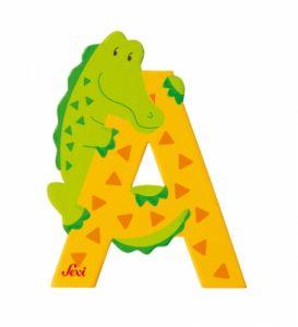 SEVI Wooden letter A - Aligator, 81601