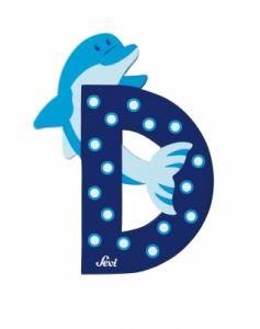SEVI Wooden letter D - Dolphin, 81604