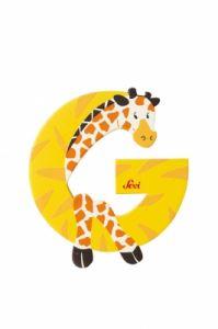 SEVI Буква дървена G - Giraffe