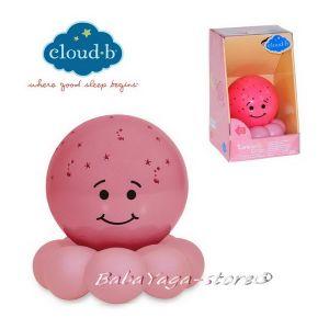 7451 Нощна лампа ОКТОПОД за детска стая от CloudB, Twinkles To Go Octo, pink