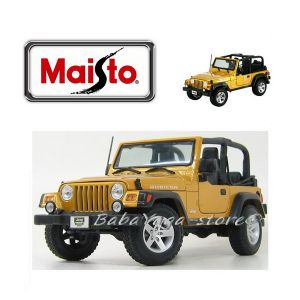 Maisto Special Edition ДЖИП WRANGLER RUBICON 1:18 - жълт - 31663