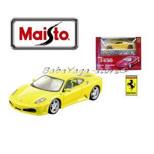 Maisto FERRARI Сглобяем модел F430 1:24 жълт - 39259