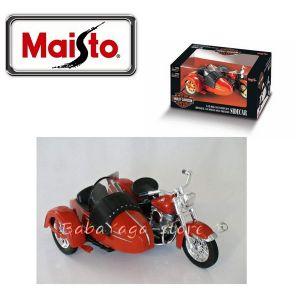 Maisto МОТОР С КОШ Harley Davidson 1:18 червен - 31108