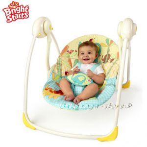 Bright Starts Люлка за бебе Слънчево САФАРИ от серията Sunnyside Safari Portable Swing™ - 7117