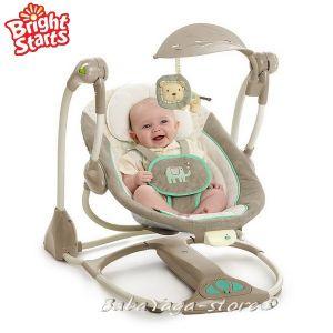 Bright Starts Люлка музикална за бебе Whimsical Wonders от серията InGENUITY - 60192