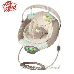Bright Starts Шезлонг за бебе музикален с вибрации InGenuity The Gentle Automatic - 60284