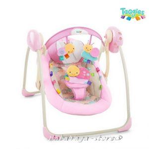 Bright Starts Люлка музикална за бебе Portable Swing™ - Cozy Posies™ от серията TaGgies - 60257