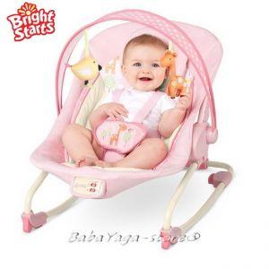 Bright Starts Шезлонг за бебе музикален с вибрации COMFORT & Harmony Cradling Rock GIRAFALOO - 60114