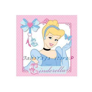 Princess Cinderella hand towel 30x30 cm