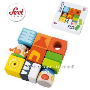 SEVI Кубчета дървени Totem от серията Friends - 82323