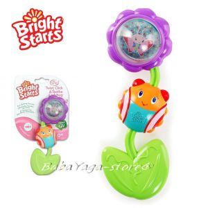 Bright Starts Играчка-Дрънкалка и дъвкалка КАЛИНКА Twist, Click & Teethe Ladybug - 9285