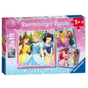 Ravensburger ПЪЗЕЛ за деца ПРИНЦЕСИТЕ 3 x 49 Disney Princess Beautifull - 09402