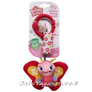 Bright Starts Дрънкалка за количка ЖИВОТИНКИ Chime Along Friends™ in Pink - 8674