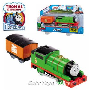 Fisher Price Влакче ПЪРСИ, Thomas & Friends Motorized PERCY Engine от серията TrackMaster, BML07