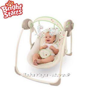 Bright Starts Люлка музикална от серията Comfort & Harmony в нюанс Sandstone - 7192