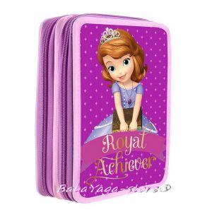 Ученически несесер с 2 отделния Disney Sofia The First - Принцеса София 1441