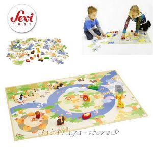 Sevi Puzzle Safari with miniatures - 82625