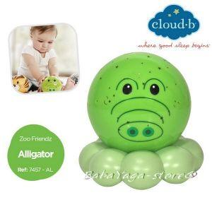 7457 Нощна лампа АЛИГАТОР за детска стая от CLOUD_B Dreamz To Go® Zoo Friendz™ - Aligator