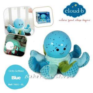 7460 Нощна лампа ОКТОПОД плюш за детска стая от CloudB Octo Softeez, Blue