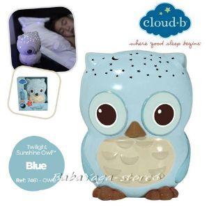7461 Нощна лампа БУХАЛ за детска стая от CloudB Twilight Sunshine Owl - blue
