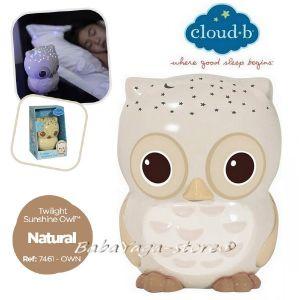 7461 Нощна прожекционна лампа БУХАЛ за детска стая от CloudB Twilight Sunshine Owl, classic