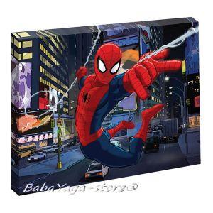 Картина с LED светлина за детска стая СПАЙДЪРМЕН - Spiderman canvas 440014