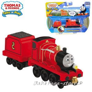 2016 Fisher Price Влакчето ДЖЕЙМС Thomas & Friends TALKING JAMES от серията Take-n-Play CKV29