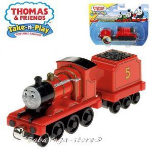 Fisher Price Влакчето ТОМАС Thomas & Friends JAMES от серията Take-n-Play - CBL85
