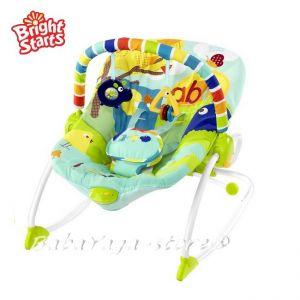 Bright Starts Шезлонг за бебе с вибрации от серията Rock in the Park - 60169