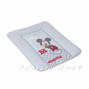ПОДЛОЖКА за повиване на бебе DISNEY Mickey Mouse мека синя - 7104