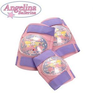 Комплект детски протектори - наколенки и налакътници Angelina Ballerina