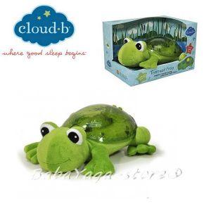 7423 Нощна прожекционна музикална лампа ЖАБА за детска стая от CloudB, Tranquil Frog