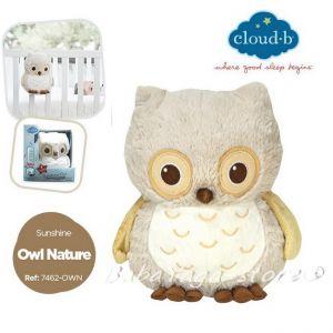 7462 Спокойно БУХАЛЧЕ музикална играчка от Sunshine Owl Natural от CloudB