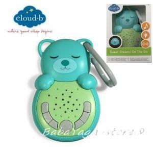 7670 МЕЧЕ музикална светеща играчка от CloudB, Sweet Dreamz OnTheGo Bear