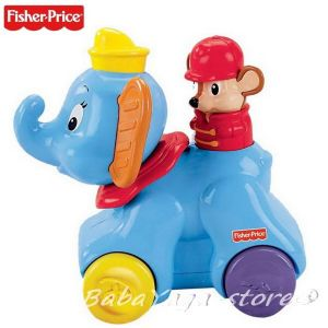 Fisher Price Играчка СЛОНЧЕ Rollin' Tunes Dumbo от серията Disney Baby - X6172