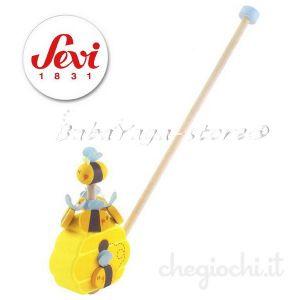 SEVI Буталка дървена Пчеличка Push Along Bee - 82648