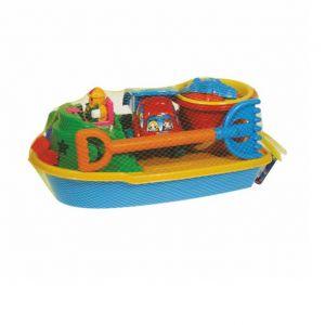 Плажна играчка Лодка с камионче и плажна кофичка, 50см - 88086