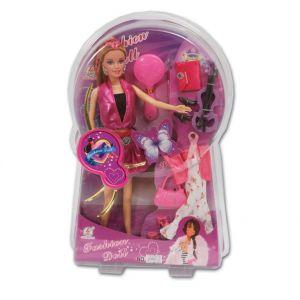 Кукла с цигулка и аксесаори в комплект, Fashion doll - 60608