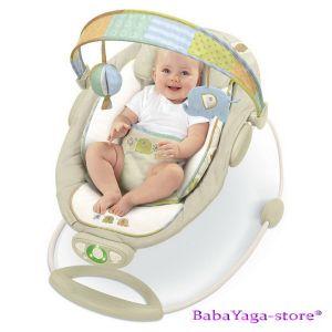 Bright Starts Шезлонг за бебе музикален с вибрации InGenuity Automatic - 6940