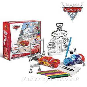 Рисувателен комплект КОЛИТЕ за сглобяване с цветни моливи CARS Creative set colour pencils 309025