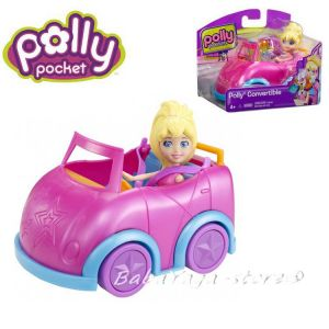 Polly Pocket Кукла Поли с кола, Convertible Cabriolet на Mattel, X4006