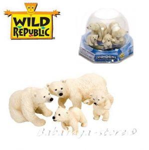 Polar Bear Eco-Dome Familly, Wild republic, 89322
