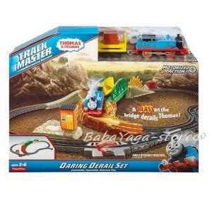 Fisher Price Игрален комплект Опасен мост, Thomas & Friends Daring Derail Set от серията TrackMaster, FBK07